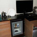 Fridge and TV