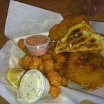 $7.99 cod basket with tater tots, toast and includes drink.