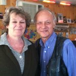 Sandy and his wife, owners of the Fort Laramie American Grill.