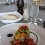 Légumes marinés herbes fraîches, ricotta et vinaigre balsamique/Marinated vegetables  fresh herb
