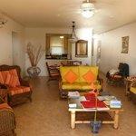 Living room/dining room (kitchen beyond)