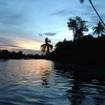 Klias wet land sunset