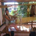 Ati at the loom at the Hills Tribe Museum, Chiang Rai