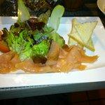 Assiette saumon fumée