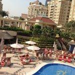 view from Pergolas terrace