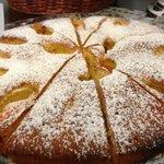 House made apple cake