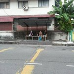 Bus stop right in front of the homestay