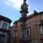 St Gennaro's Obelisk as seen from room 210's window
