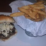 Blue Cheese Burger and Crispy Fries