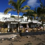 View of restaurant from the beach