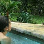 Im Angesicht des Leguans: Schwimmen im Pool von Casacolores.