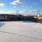 Snow on the ball field, from room 419
