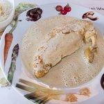 Poulet de Bresse à la crème « Mère Blanc », riz Basmati (white meat)