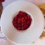 Red fruit dessert