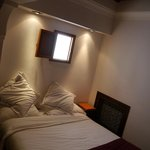 The upstairs bedroom area in La Courtisane room