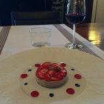 entrée au foie gras et fraises