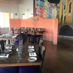 our magnificent dining room and chalk mural