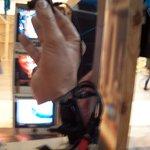 Jean Tinguely  Museum'da ziyaretçiyi ekrana veren kamera.