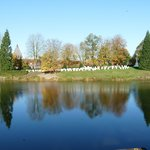 The beauty of the cemetery from near the Lille Gate, looking  acrosss the moat
