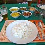 夕食のスリランカカリー
