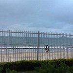 Vista hacia la playa