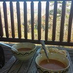 Soup on the back deck!