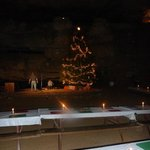 Huge Christmas tree displayed in the cave