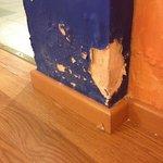 crumbling plaster
