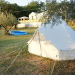 Our tent at Kokopelli