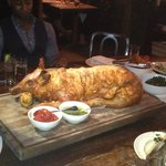 The pig roast on the next table