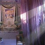 Inside the Temple decorated for Yule