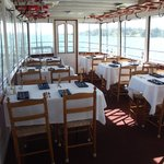 Upper Deck of the Judge Ben Wiles all ready for dinner