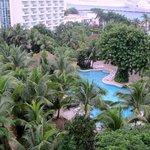 Lush gardens surrounding main pool