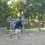 My husband volunteered to play 1860's baseball