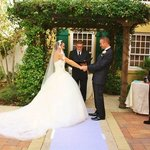 Our marriage ceremony at the hotel