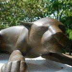 From the sculpture garden
