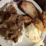 Beef tips, chicken tenders, porkloin