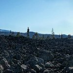 Lava Fields and The North and Middle Sister of the Cascade Range viewed from Dee Wright Observat