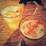 Happy hour cocktails.