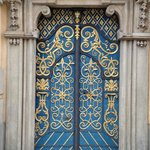 Lovely entrance door to old university hall