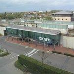 Vue vers la gare de Diegem (très calme)