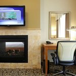 Our two room fireplace suites offer romantic getaways with see through fireplaces.