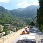 church with graves -view sierra de tramuntana