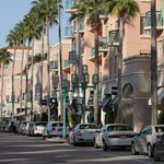 Sun shining on Mizner Park Boca Raton