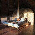 Big comfy bed, very roomy bungalow