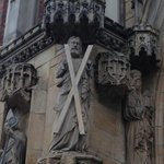 St Andrew's figure guarding the entrance
