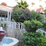 Hotel front garden