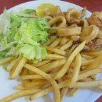 Calamari e patatine