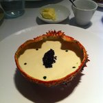 A delicious araignee de mer concoction with a dollop of caviar