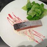 entrée: saumon basse temperature
